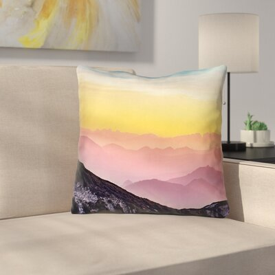 Thang Pastel Landscape Double Sided Print Square Throw Pillow Size: 18 x 18