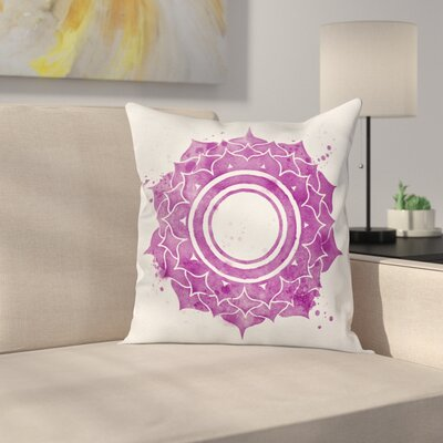 Mandala Chakra Splash Square Pillow Cover Size: 18 x 18