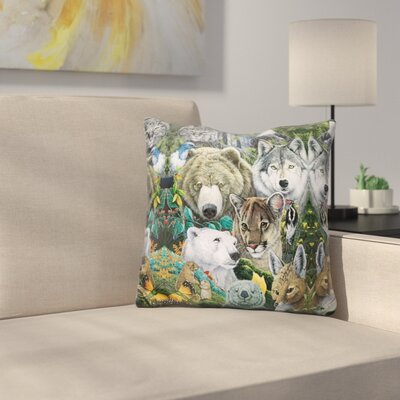 North Americas Endange Throw Pillow