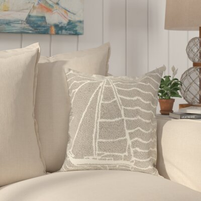 Velva Sails Indoor/Outdoor Throw Pillow Color: Gray