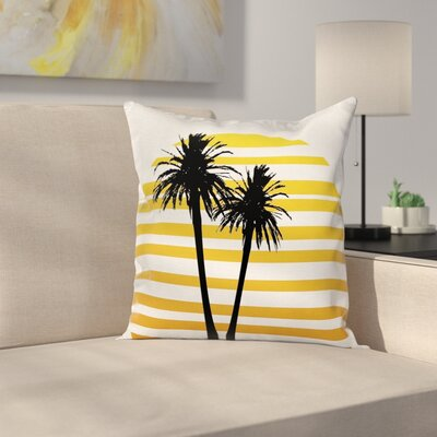 Coconut Palm Trees Cushion Pillow Cover Size: 24 x 24