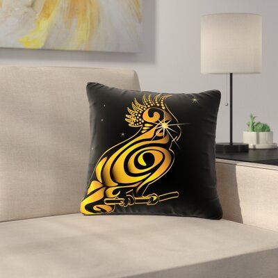 Maria Bazarova Parrot Outdoor Throw Pillow Size: 16 H x 16 W x 5 D