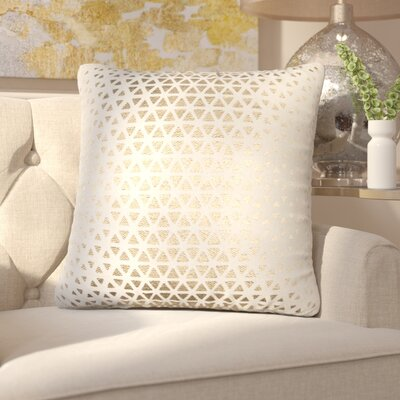 Joellen Decorative Cotton Throw Pillow Color: Gold