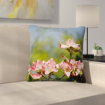 Angie Turner Dogwood Digital Floral Outdoor Throw Pillow Size: 16 H x 16 W x 5 D