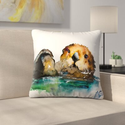 Otter Throw Pillow Size: 16 x 16