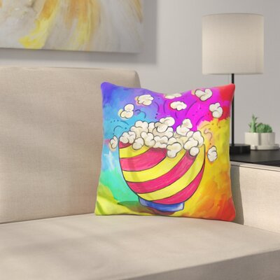 Popcorn Bowl Throw Pillow