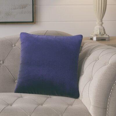 Pittenger Soft Luxury Velvet Throw Pillow Color: Navy