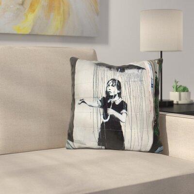Umbrella Girl Throw Pillow