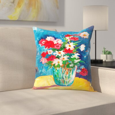 Sunshine Taylor Large Flower Vase Indoor/Outdoor Throw Pillow Size: 16 x 16
