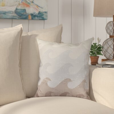 Golden Beach Deep Sea Outdoor Throw Pillow Size: 20 H x 20 W, Color: Taupe/Gray