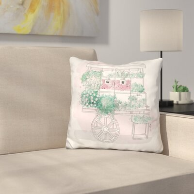 Beauty Cart Throw Pillow