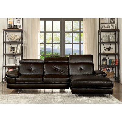 Stiver Sectional Upholstery: Espresso