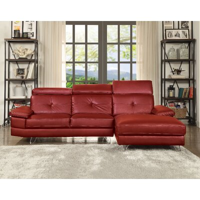 Stiver Sectional Upholstery: Red