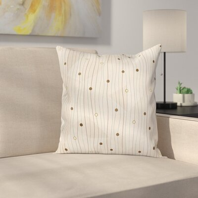 Swirls Pattern Circles Cushion Pillow Cover Size: 18 x 18