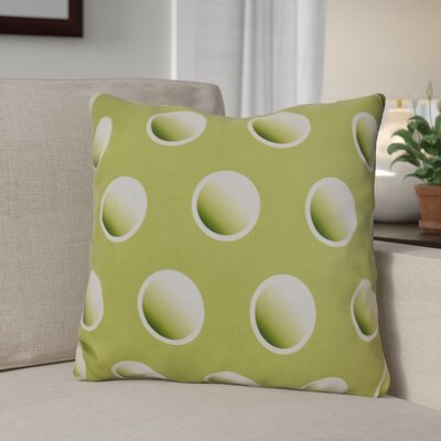 Dip Dye Dots Outdoor Throw Pillow Size: 18 H x 18 W, Color: Green