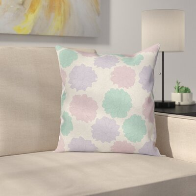 Floral Exquisite Retro Flowers Square Pillow Cover Size: 16 x 16