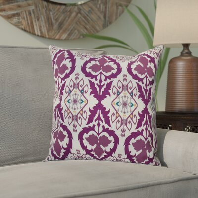 Meetinghouse Bombay Geometric Outdoor Throw Pillow Size: 20 H x 20 W, Color: Purple