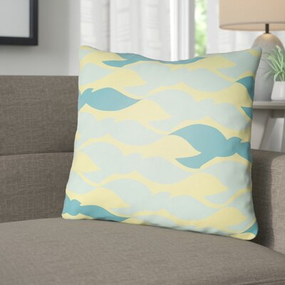 Danube Throw Pillow Size: 18 H x 18 W x 4 D, Color: Yellow