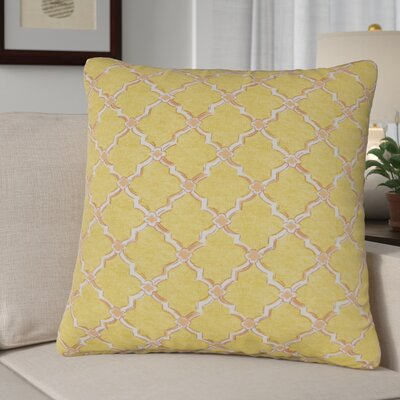 Burnley Indoor/Outdoor Throw Pillow Color: Yellow/White