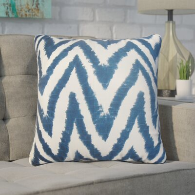 Wittrock Zigzag Cotton Throw Pillow Color: Navy Blue