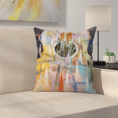 Michael Creese Mountain Guitar Throw Pillow Size: 16 x 16