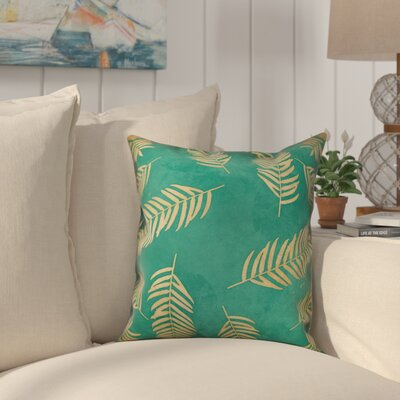 Gannet Palm Leaves Throw Pillow