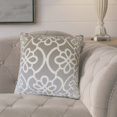 Adalric Geometric Cotton Throw Pillow Color: Gray