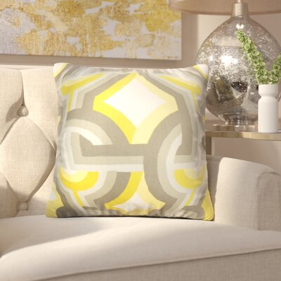 Westerlo Geometric Throw Pillow Cover Color: Gray Yellow