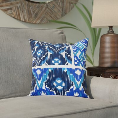 Meetinghouse Free Spirit Geometric Print Throw Pillow Size: 20 H x 20 W, Color: Navy Blue
