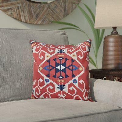 Meetinghouse Jodhpur Medallion Geometric Print Throw Pillow Size: 26 H x 26 W, Color: Coral