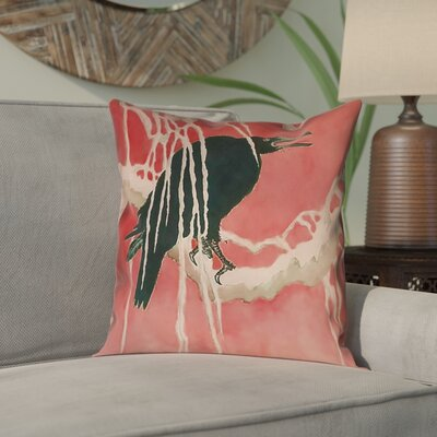 Montreal Crow and Willow Square Pillow Cover Size: 18 x 18
