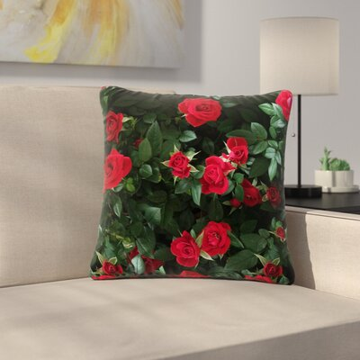 Juliets Garden Floral Outdoor Throw Pillow Size: 16 H x 16 W x 5 D
