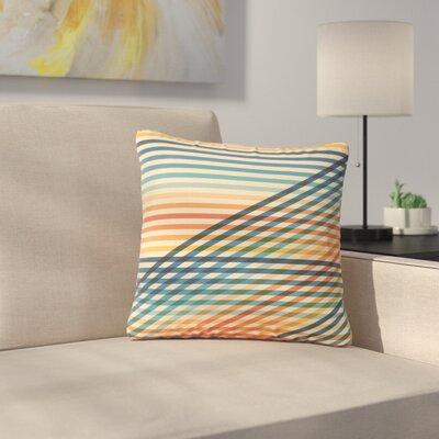 Fimbis OvrlapToo Lines Outdoor Throw Pillow Size: 16 H x 16 W x 5 D