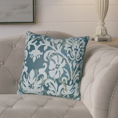 Amiyah Throw Pillow Size: 20 H x 20 W x 4 D, Color: Light Blue