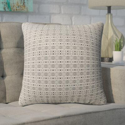 Buffington Throw Pillow Color: Black/Tan, Size: 16 H x 16 W