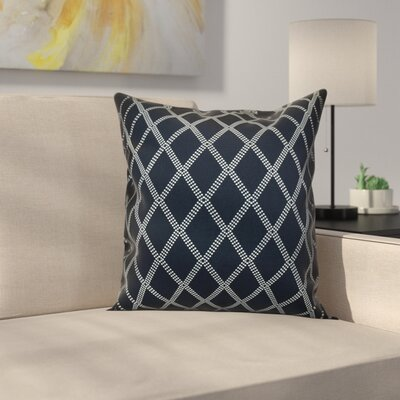Decorative Holiday Geometric Print Throw Pillow Size: 18 H x 18 W, Color: Navy Blue