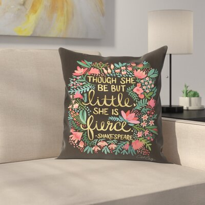 Little and Fierce Throw Pillow Size: 16 x 16