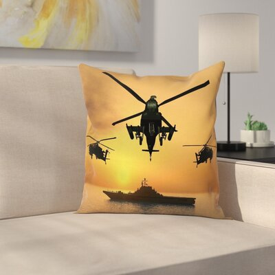 Aircraft Helicopter Square Pillow Cover Size: 18 x 18