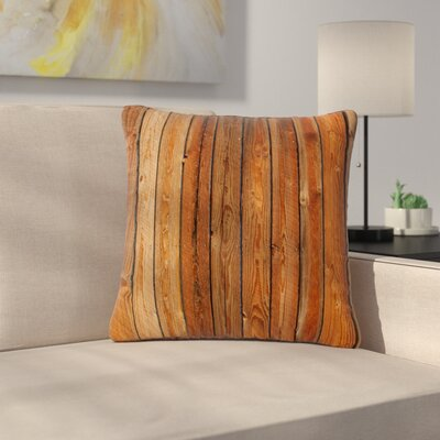 Susan Sanders Rustic Wood Wall Nature Outdoor Throw Pillow Size: 18 H x 18 W x 5 D