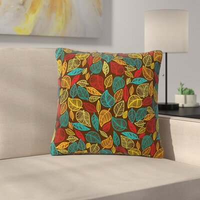 Leaves All Around Outdoor Throw Pillow Size: 16 H x 16 W x 5 D