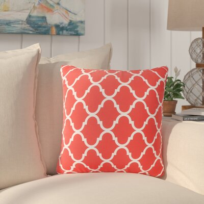 Milton Modern Throw Pillow Pillow Cover Color: Coral