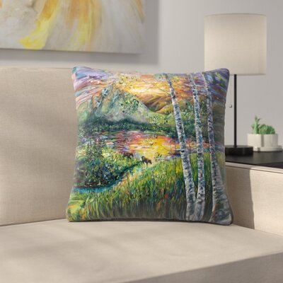 Olena Art Sleeping Meadow Throw Pillow Size: 14 x 14