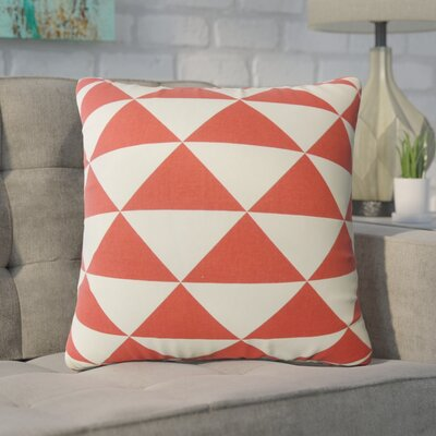 Wiedman Geometric Down Filled 100% Cotton Throw Pillow Size: 24 x 24, Color: Red