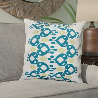 Meetinghouse Boho Chic Geometric Outdoor Throw Pillow Size: 18 H x 18 W, Color: Teal