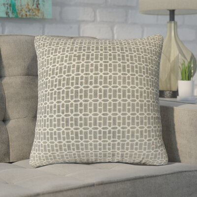 Yemanja Geometric Throw Pillow Color: Gray