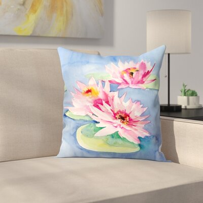 Suren Nersisyan Lotuses 1 Throw Pillow Size: 16 x 16