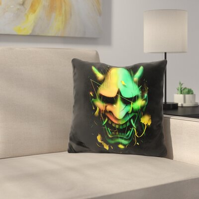 Hannya Mask Throw Pillow