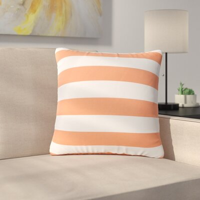 Mayle Square Striped Indoor/Outdoor Throw Pillow Color: Orange