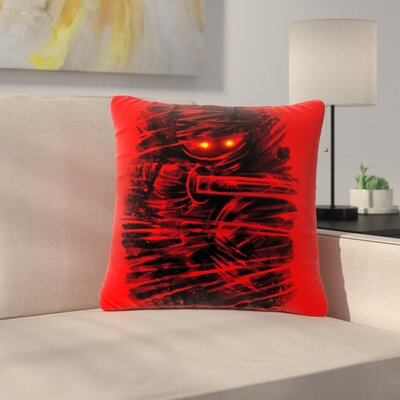 BarmalisiRTB Ninja Outdoor Throw Pillow Size: 18 H x 18 W x 5 D