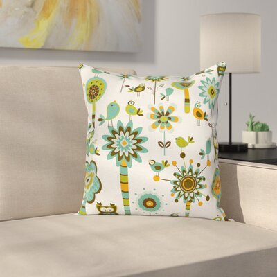 Cartoon Pillow Cover Size: 18 x 18